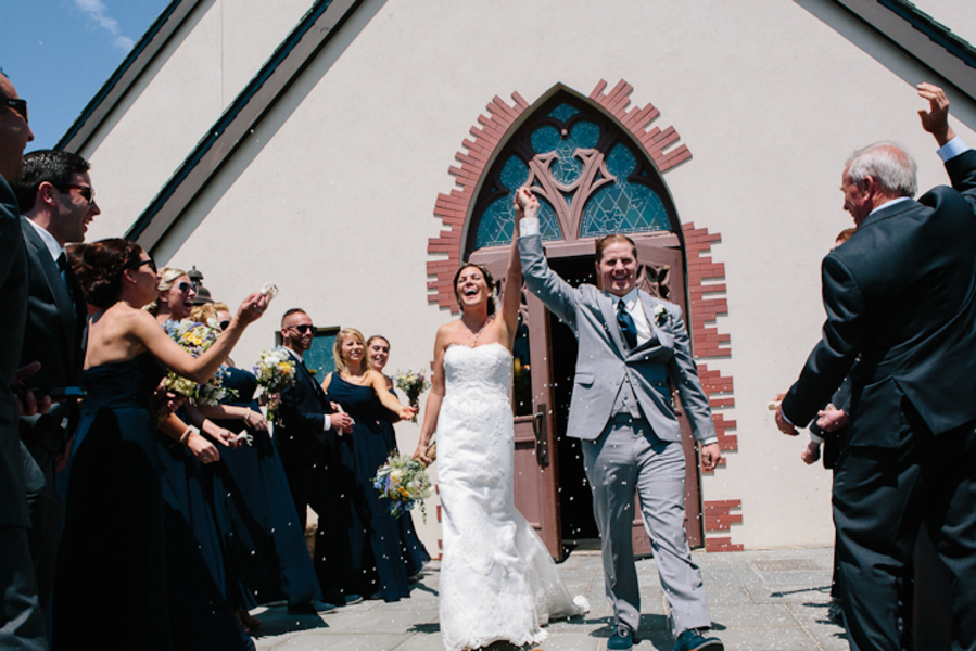 Vintage Beach Wedding in Montauk, New York / photo by Photography by Verdi