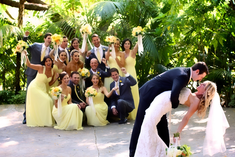 Yellow Infused Botanical Garden Wedding / photo by sun-dance photography