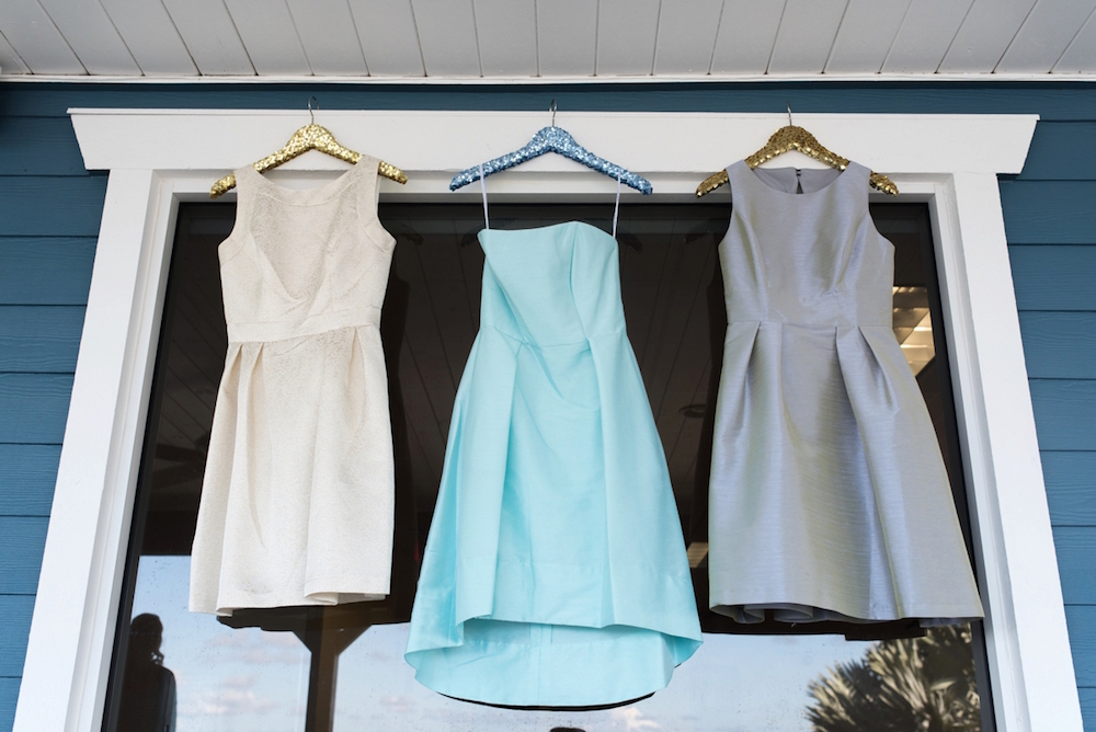 Coastal Chic Wedding Inspiration - bridesmaids dresses by Dessy / photo by Caroline & Evan Photography / flowers by FH Weddings & Events