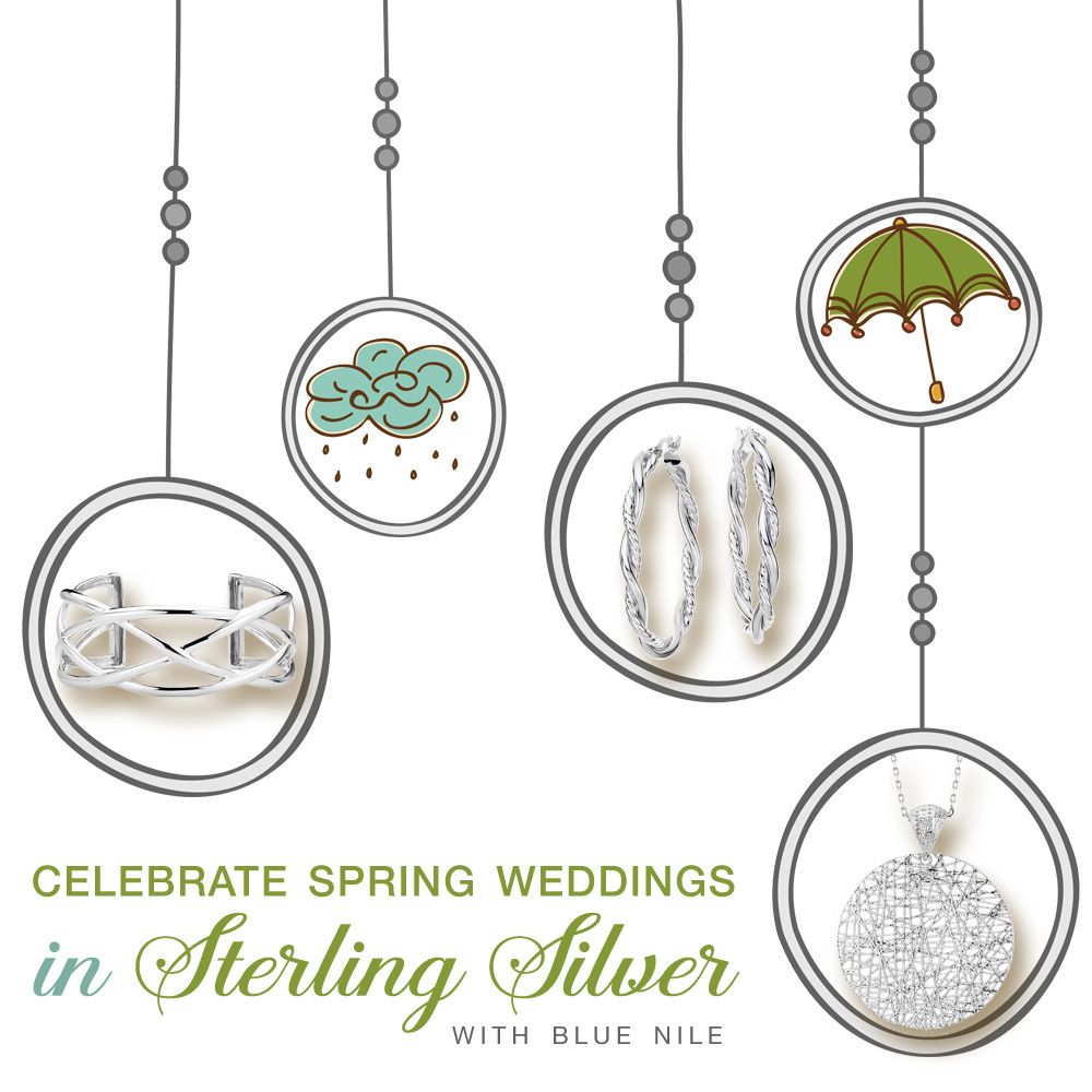 Celebrate Spring Weddings with Sterling Silver {and umbrellas}