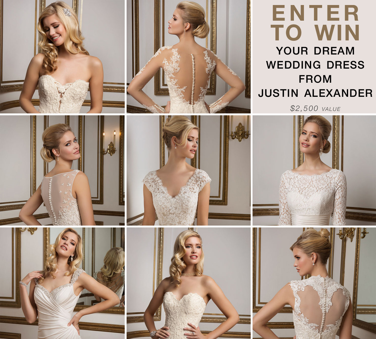 Win Your Dream #WeddingDress from Justin Alexander {valued at $2,500}