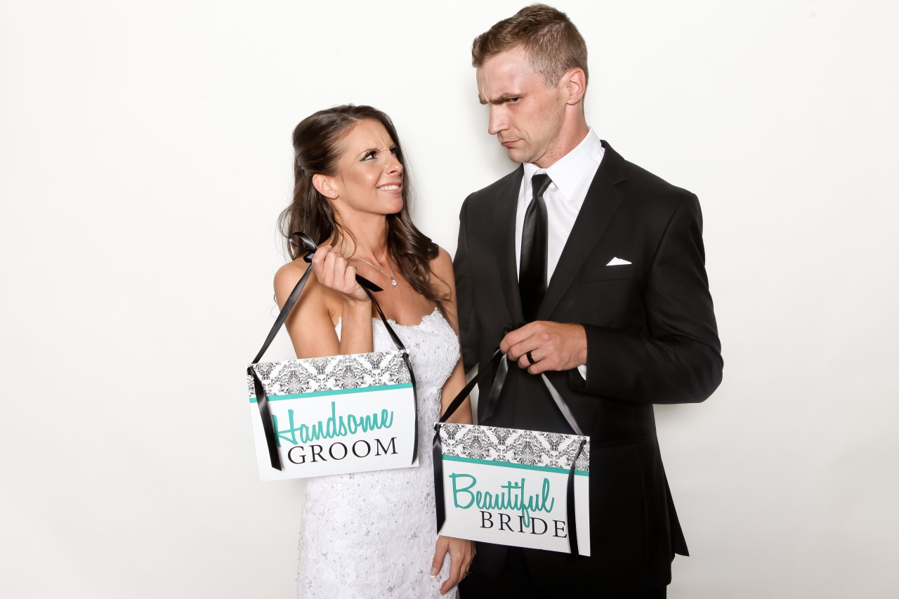 Fun Wedding Photo Booth / Photo by Carrie Ekosky Photography — Wedding Designed by Madeline's Weddings & Events