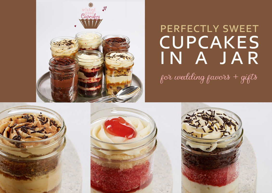 Perfectly Sweet Cupcakes in a Jar for Wedding Favors and Gifts