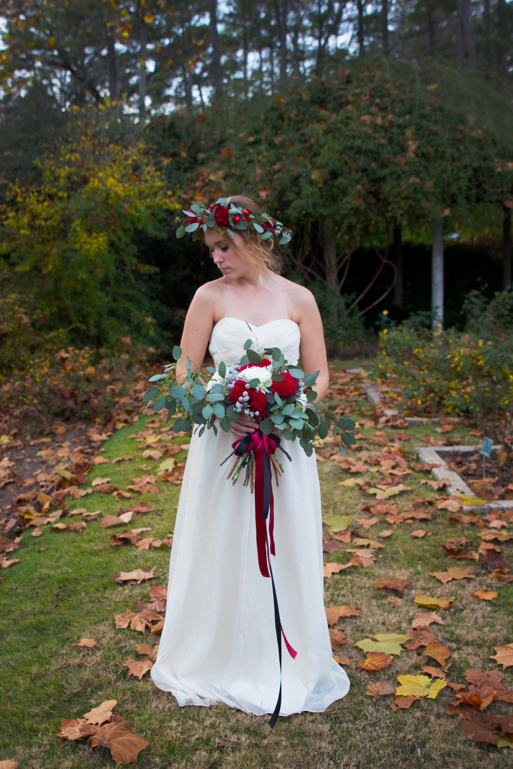 A romantic floral garden bridal inspiration styled shoot / photo by Spark Photography