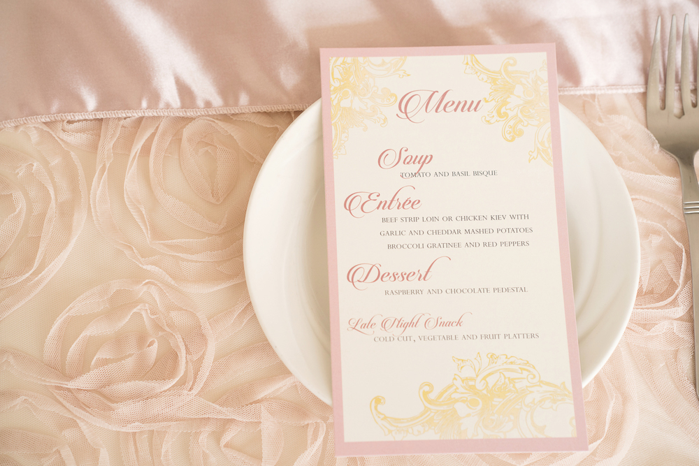 Elegant Wedding Menu from a Romantic Wedding Inspired Styled Shoot