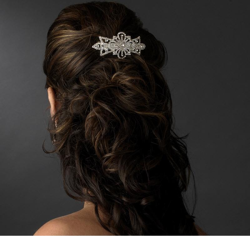 Rhinestone Vintage Hair Barrette