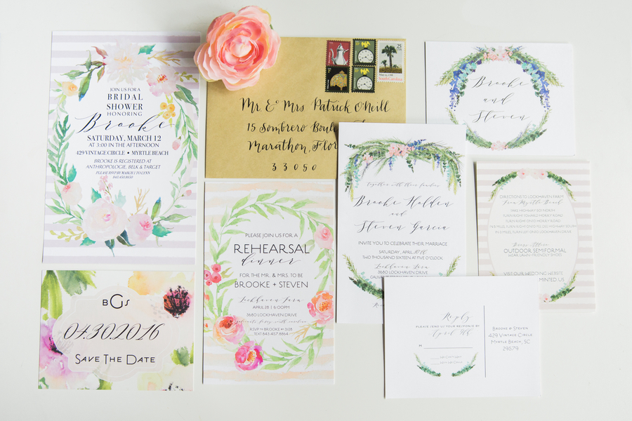 A Classic Southern Wedding Invitation Suite {calligraphy by the bride herself} / photo by Hannah Ruth Photography LLC
