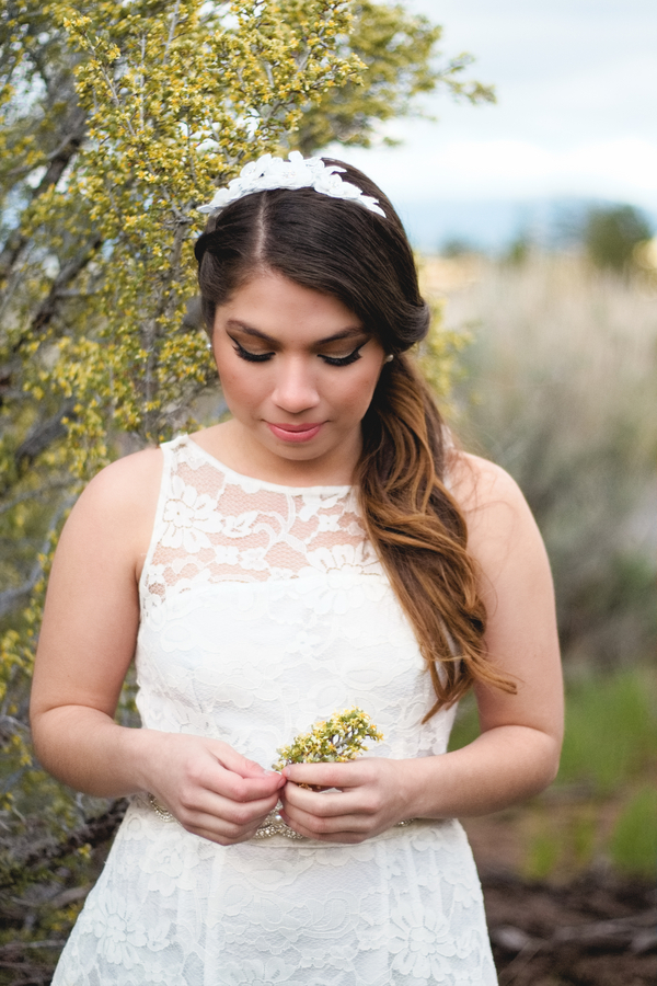 Eco-Friendly Styled Wedding Elopement in the California Mountains / photo by Autumn Noel Photography