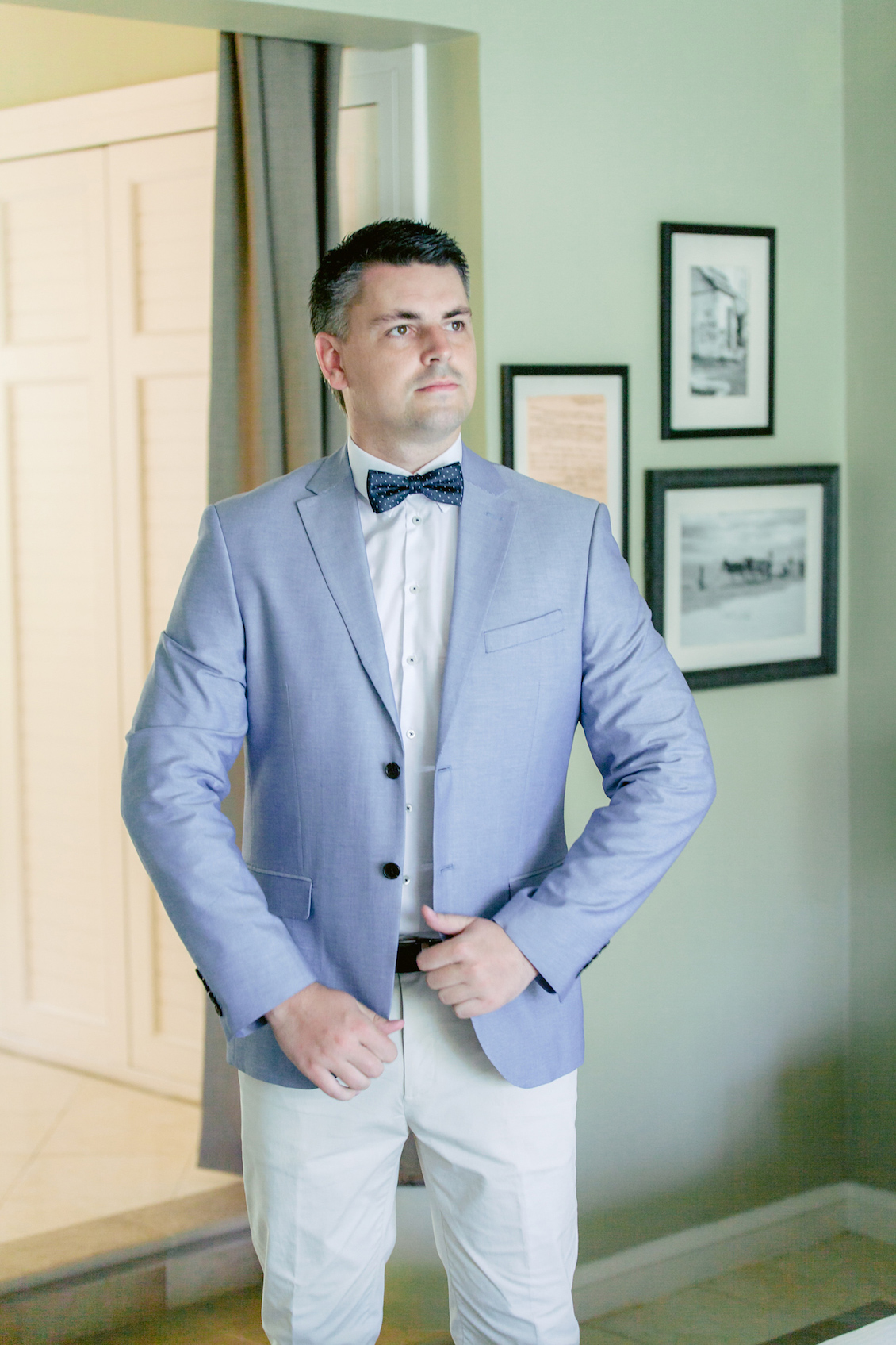 Dapper Groom from an Intimate Destination Wedding on a Tropical Island / photo by Agape Productions