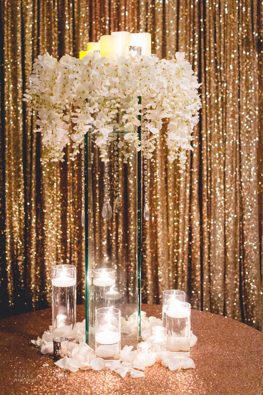 Gold Sequined Backdrop for Wedding Receptions and Photo Booths / from 14 Ways Real Brides Plan to Sparkle on their Wedding Day