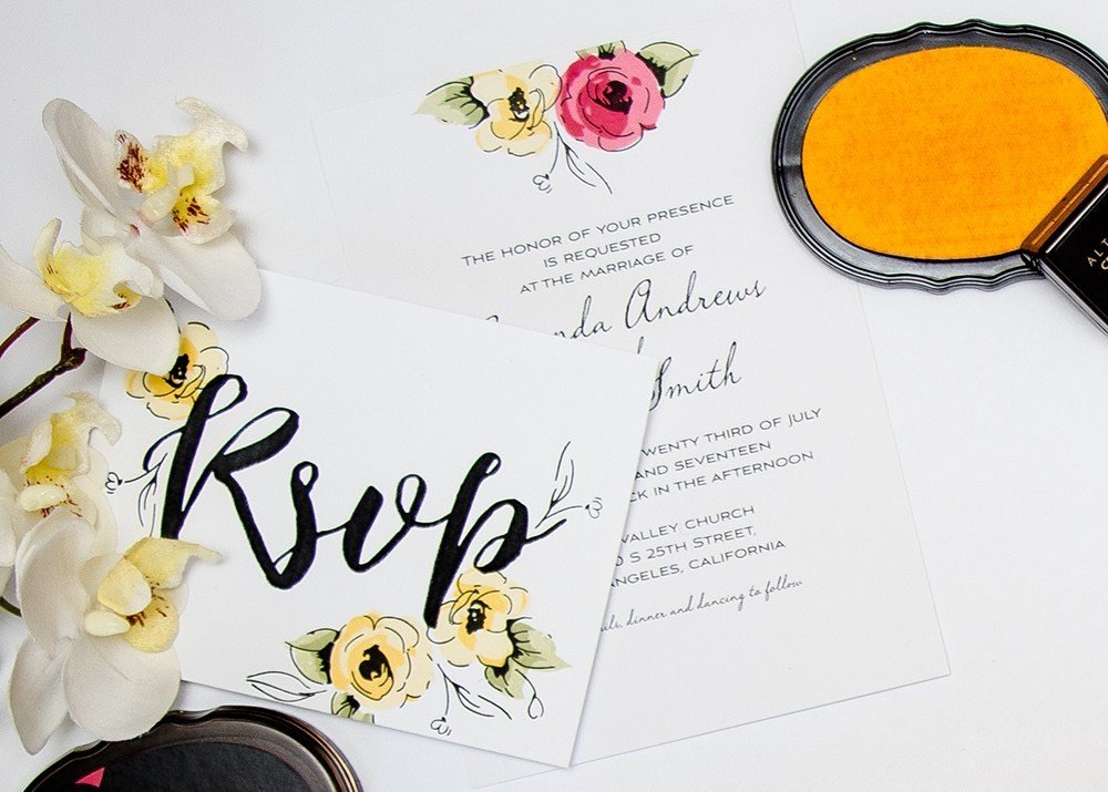 Wedding Rubber Stamping.Diy Wedding Invitation Kit From Altenew A Stamping Kit For