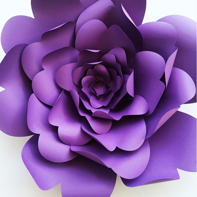 How to Add Flair to your Wedding or Party with Paper Flowers | Purple DIY Paper Flower Template from Paper Flora