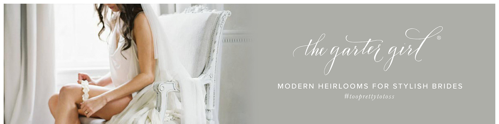 Shop for your Handmade Modern Heirlooms for Stylish Brides from The Garter Girl