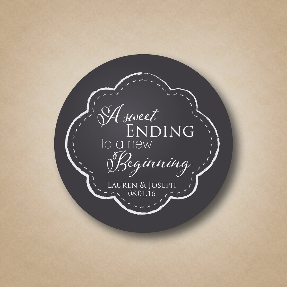Sweet Ending Favor Tag