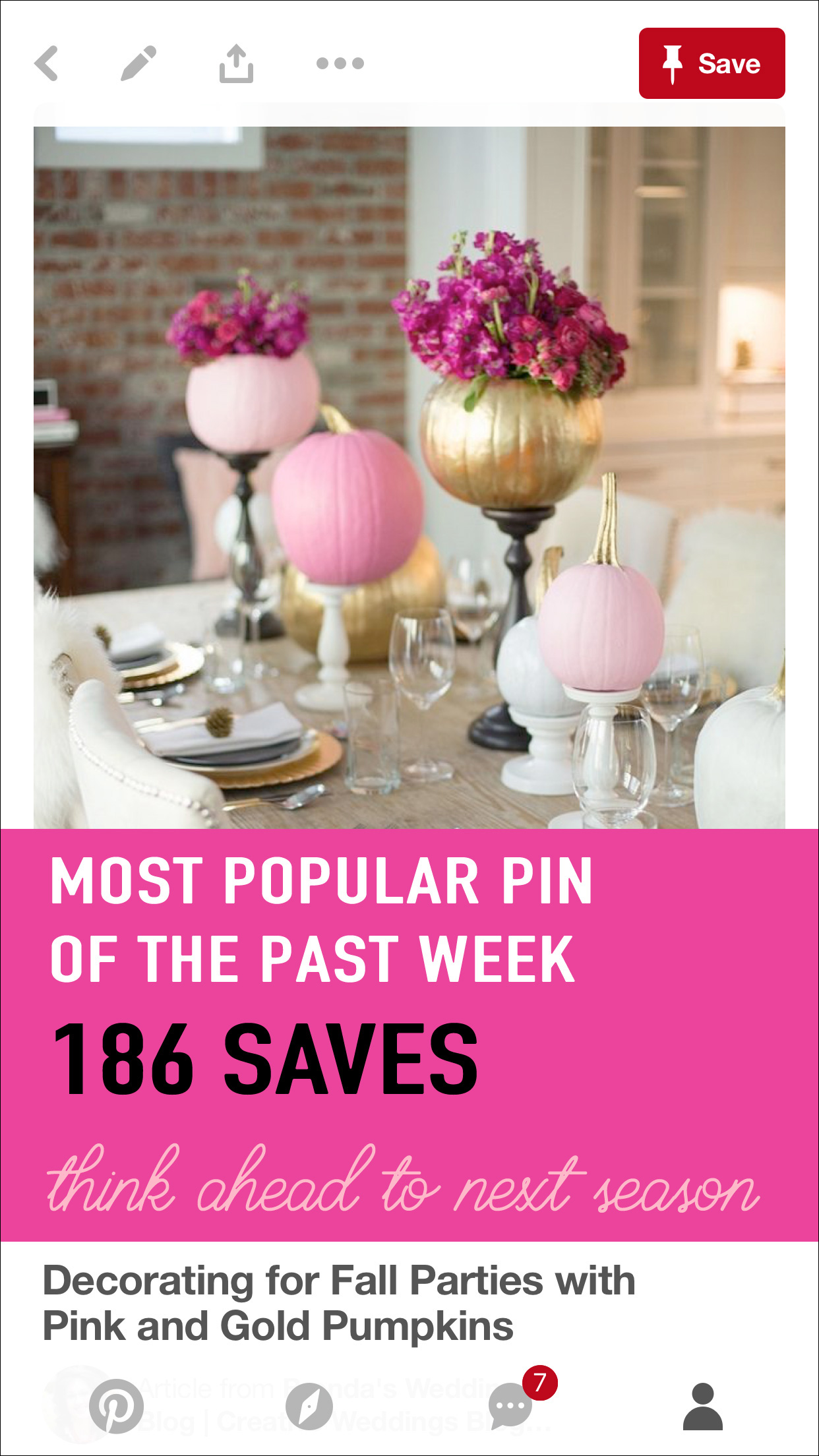 What is your Most Popular Pin of the Week? Take a peek as this shows you how to be strategic with your pinning schedule. It's time to think ahead to the next season when scheduling your pins. See more on www.BrendasWeddingBlog.com