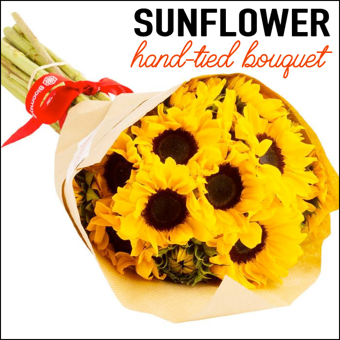 Hand-tied Sunflower Bouquet from Wholesale Flowers