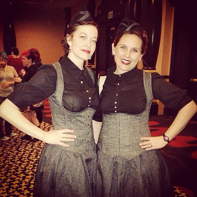 Dieselpunk finery at the VIP event