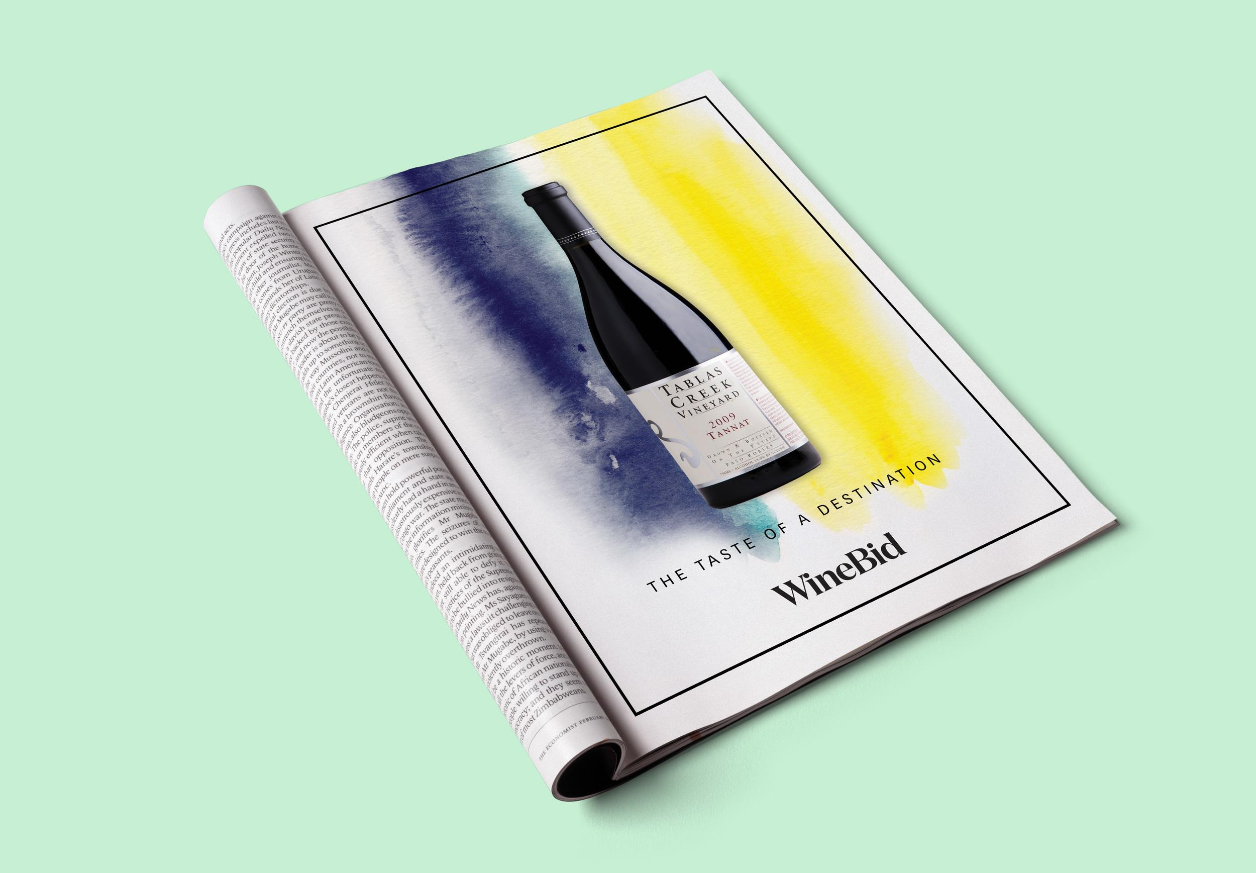 WineBid Magazine Ads