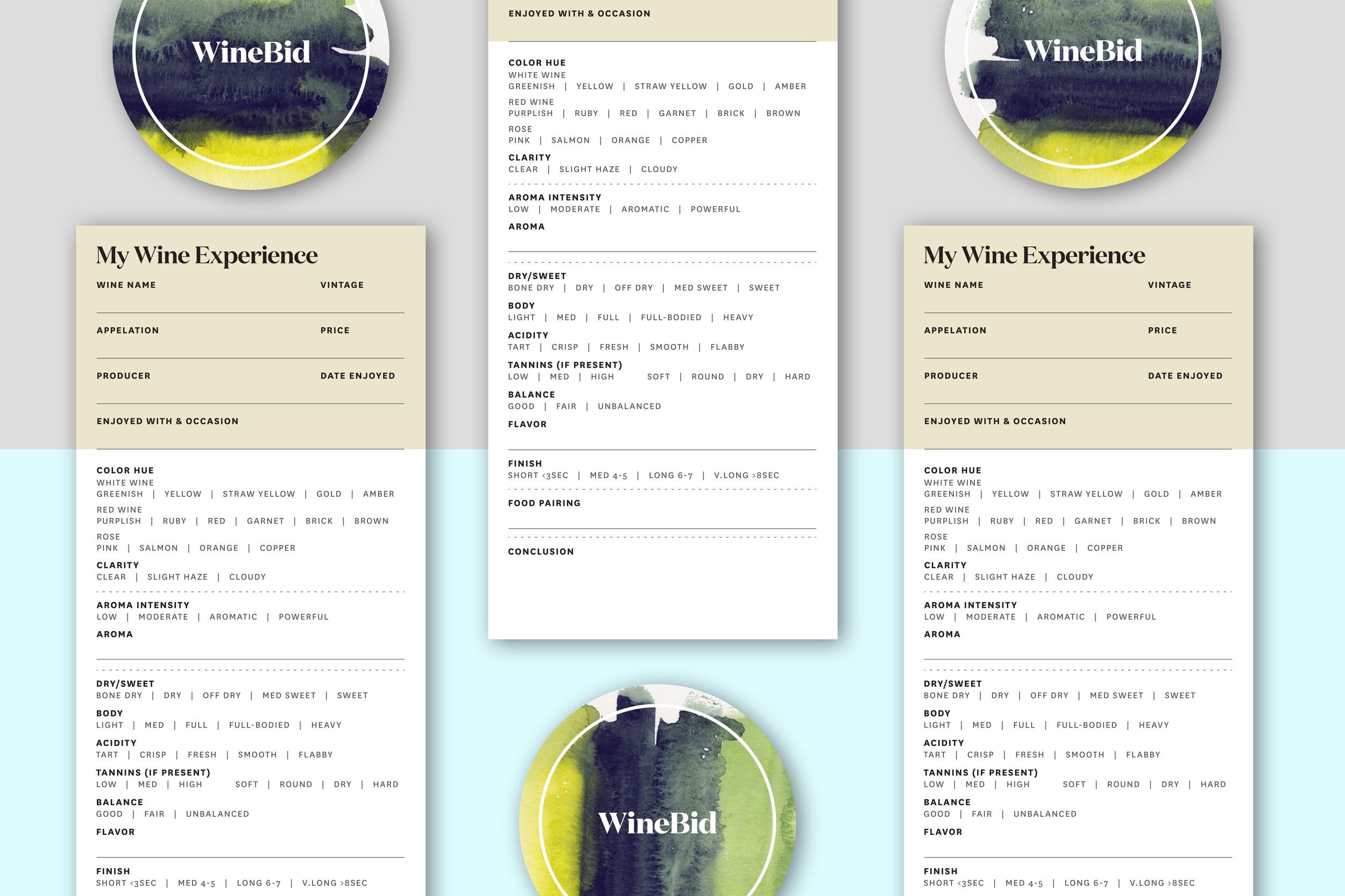 WineBid Wine Score and Coaster