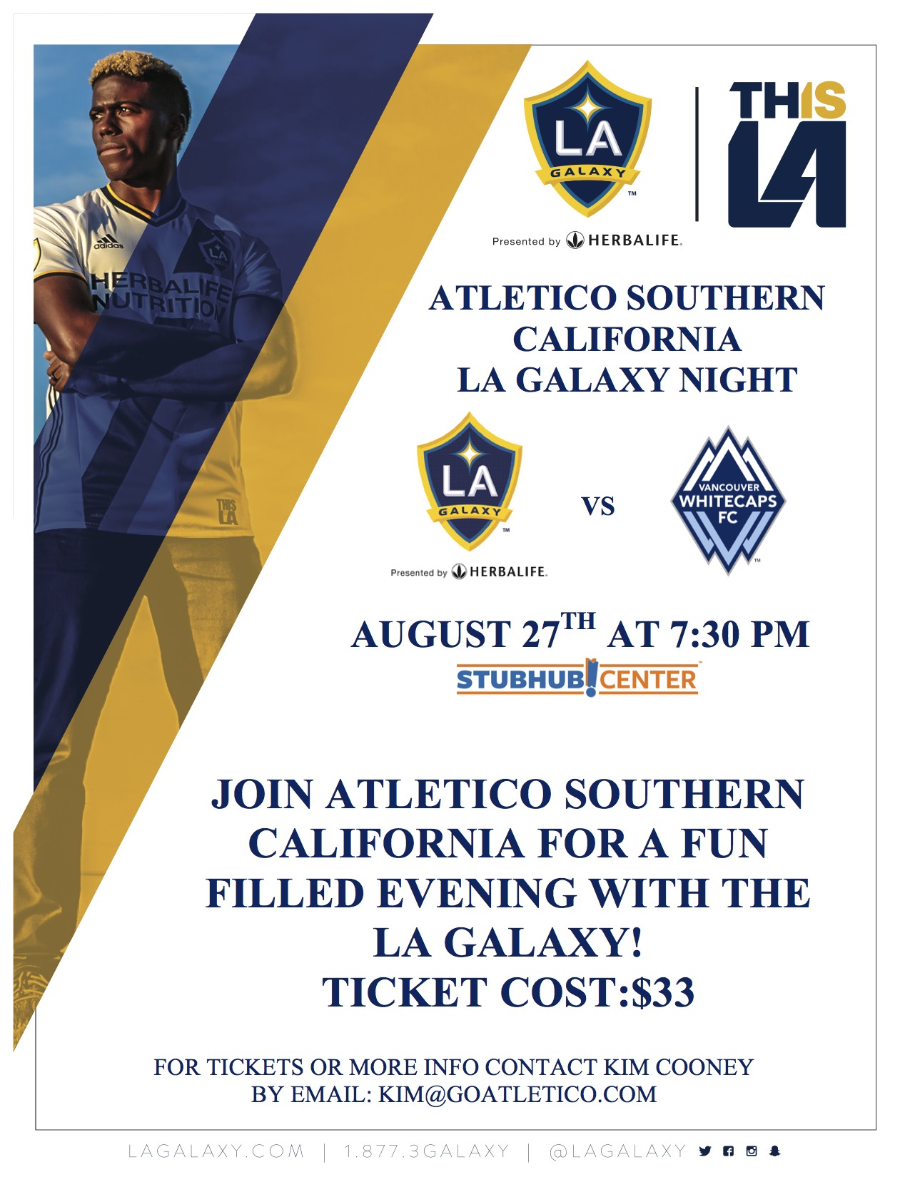 Families may use the button below to purchase the tickets ordered. For any questions please email: kim@goatletico.com