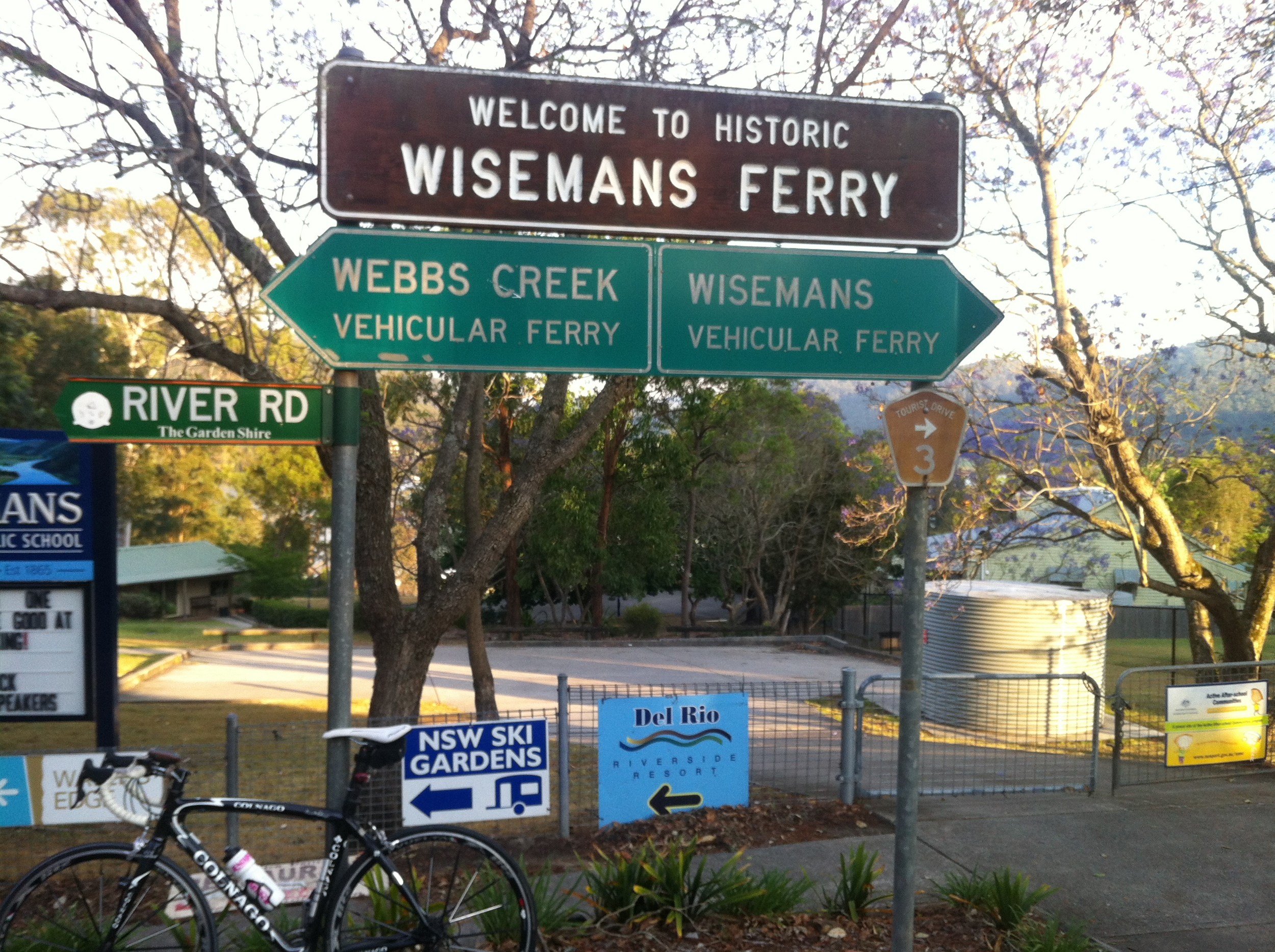 Wiseman Ferry - before the climb out