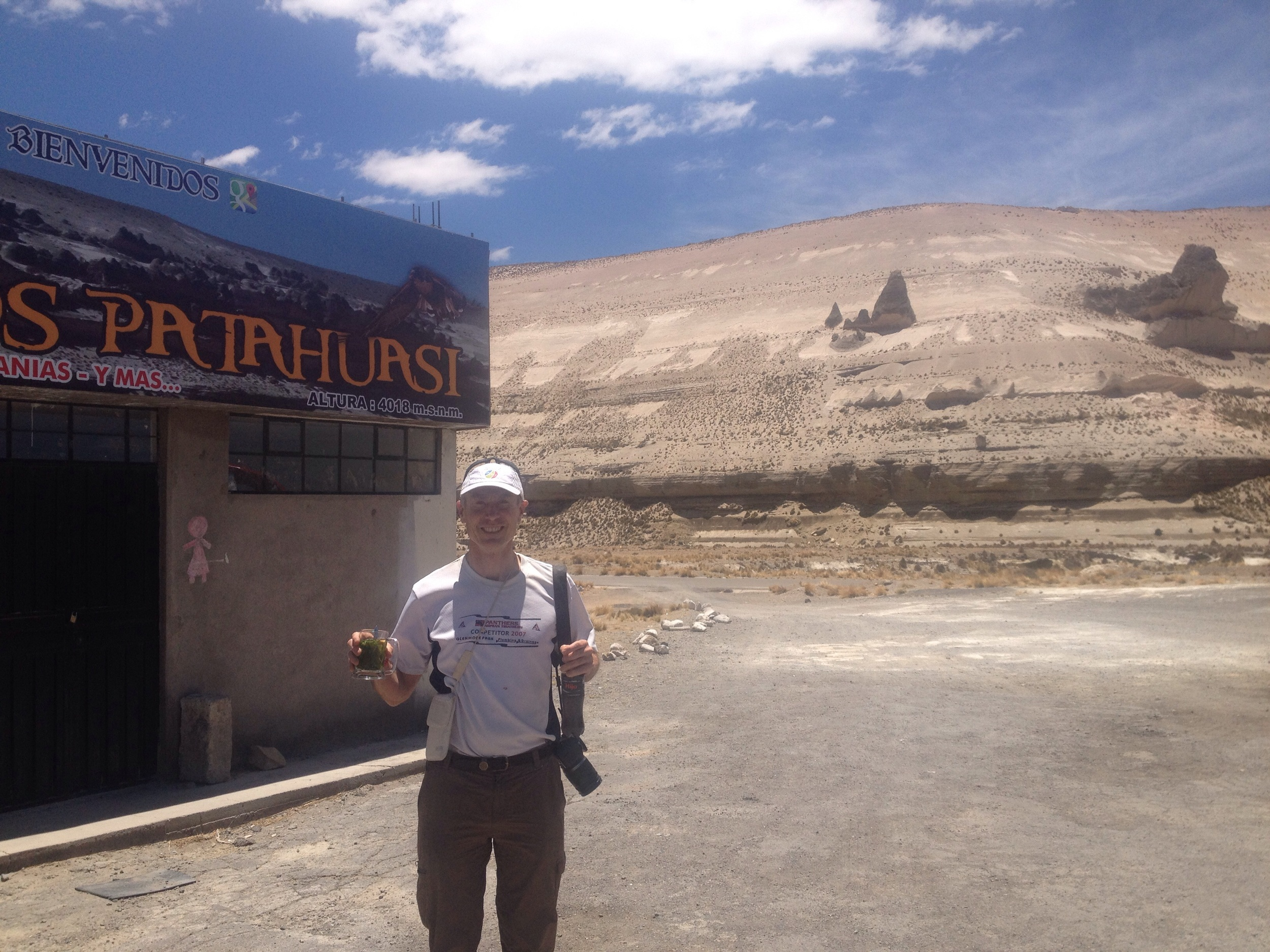 High Altitude acclimatisation- a cup of coca leaf tea at 4000m