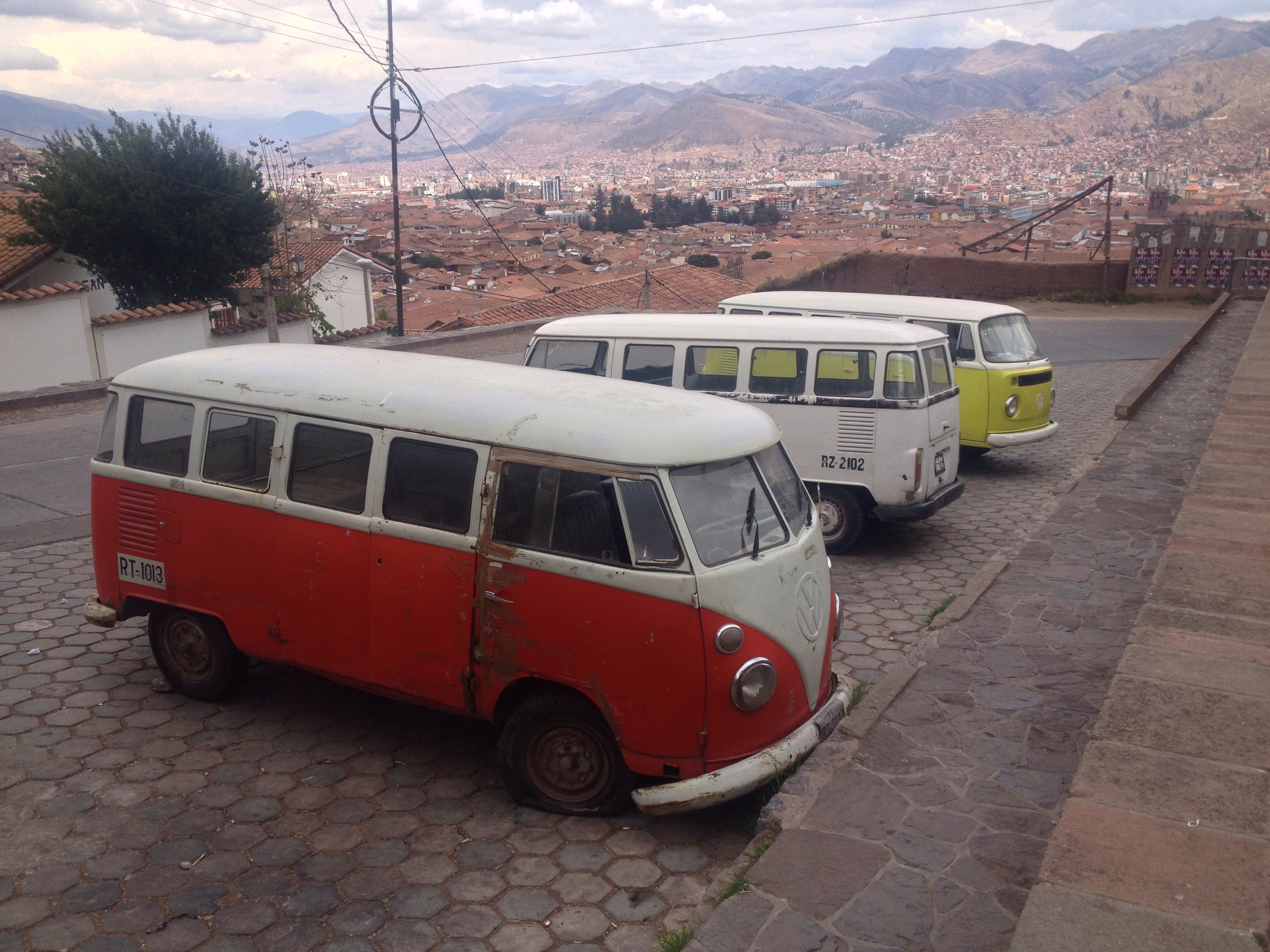 Lots of old Kombis in Cusco - a reminder of my youth.