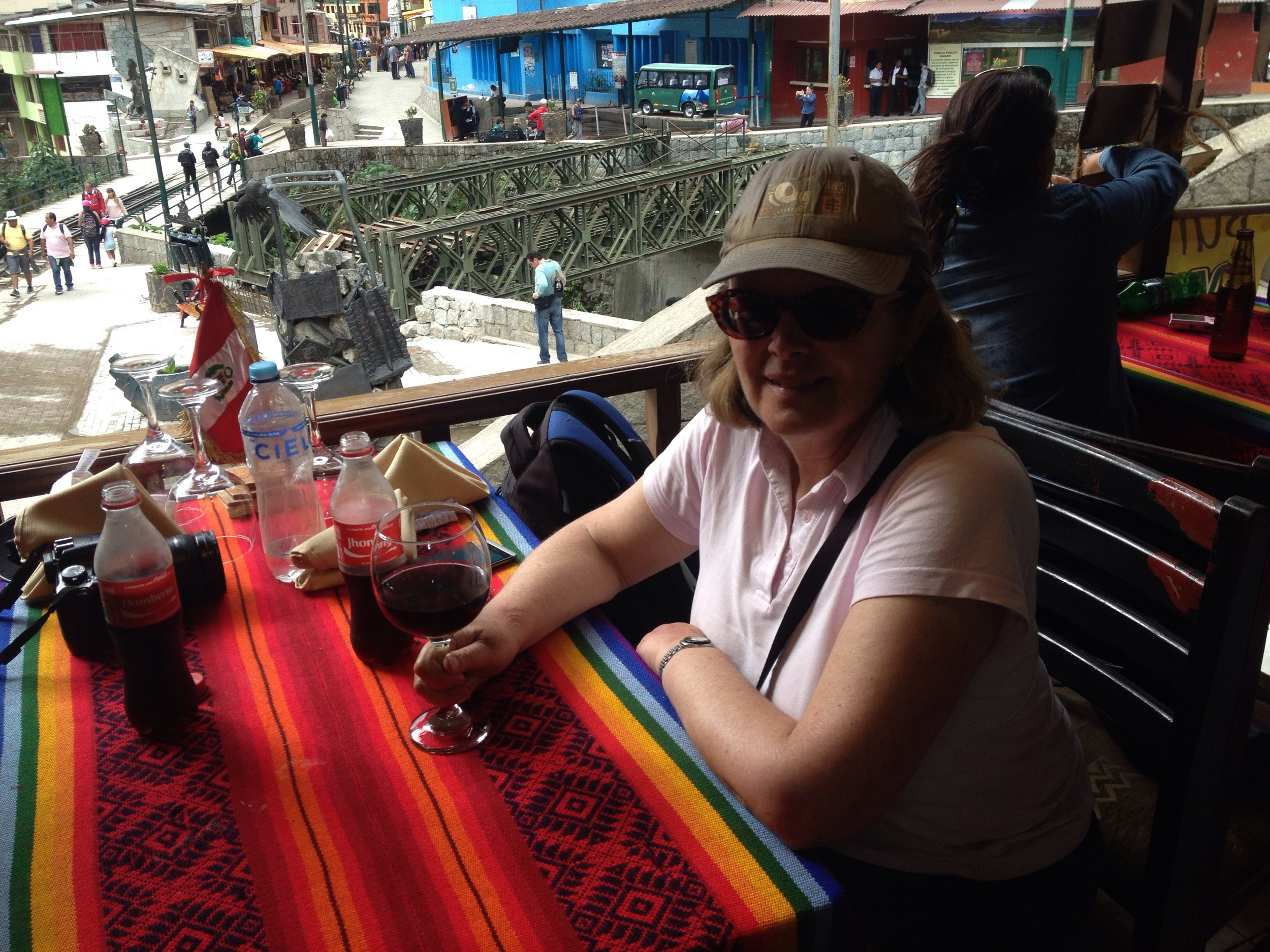 A very welcome rest and Coke back in Aguascalientes
