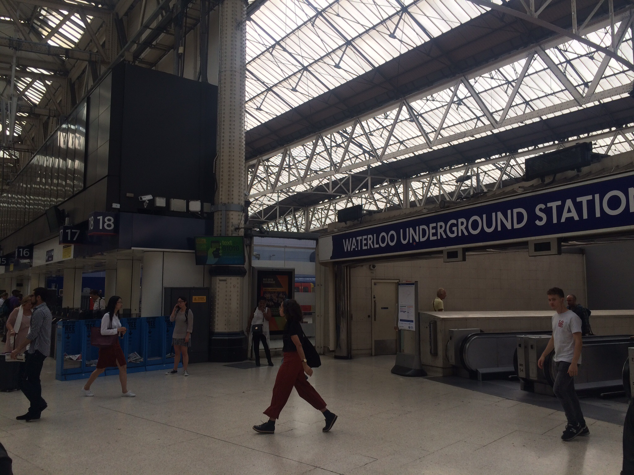 We took the train from Windsor to London's Waterloo Station