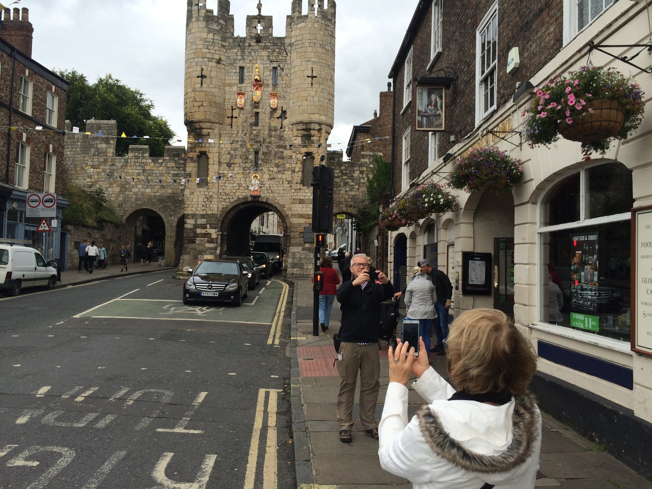 Entering old Yorkshire- (Phillip and Pauline on footpath)