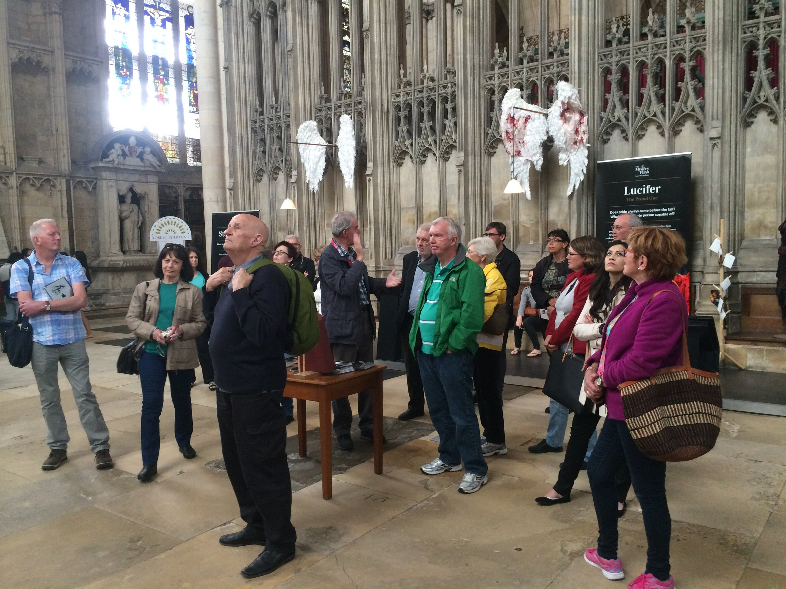 Scroopes from many continents exploring Yorkminister