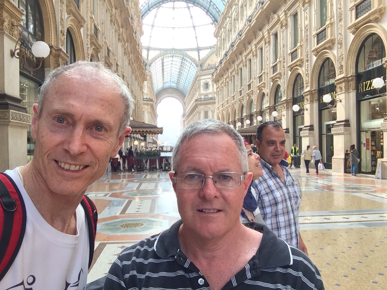 Shopping with Webes in Galleria, Milan