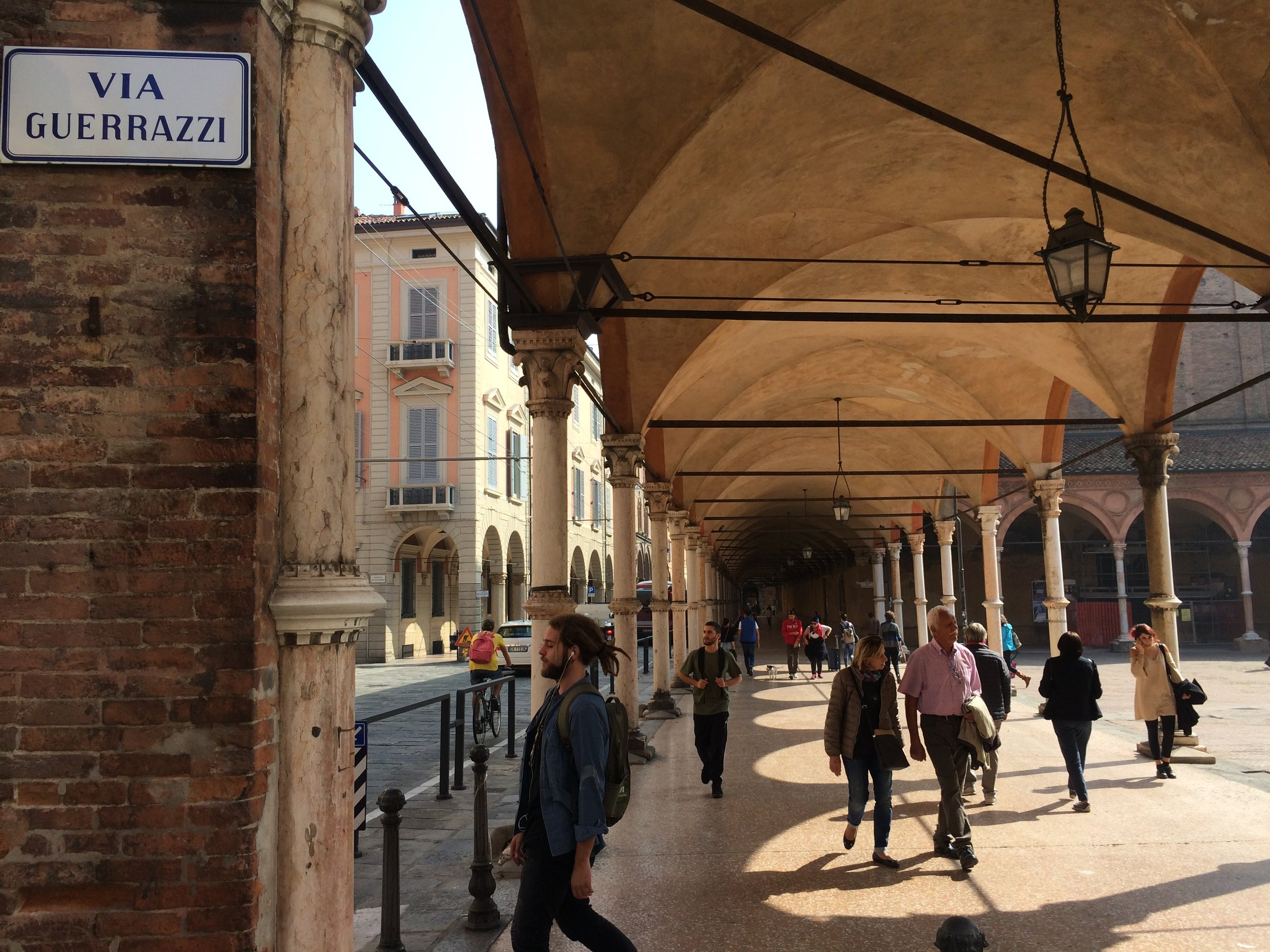 Bologna - famous for covered walkways