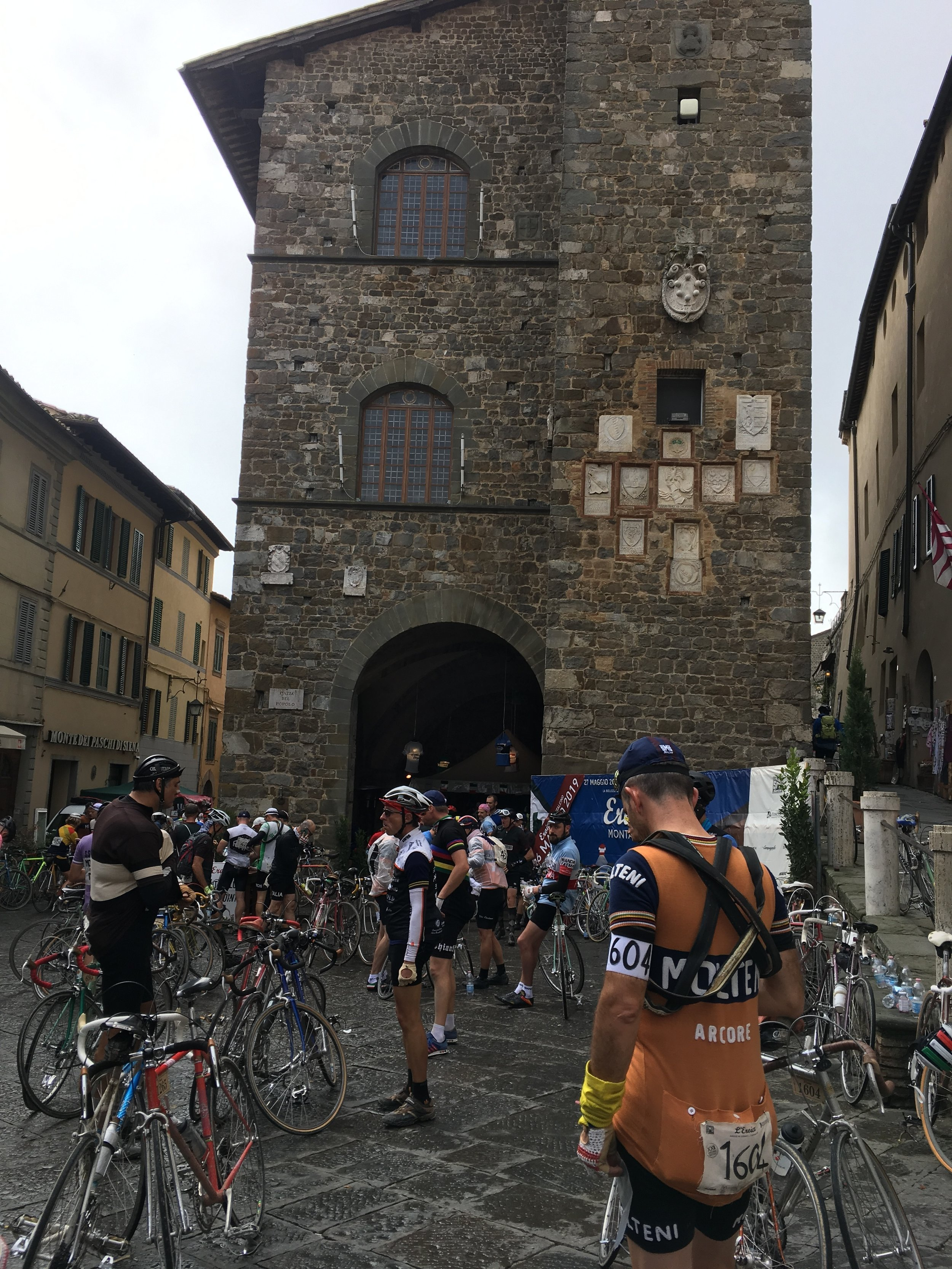 Montalcino was a tough climb and great descent
