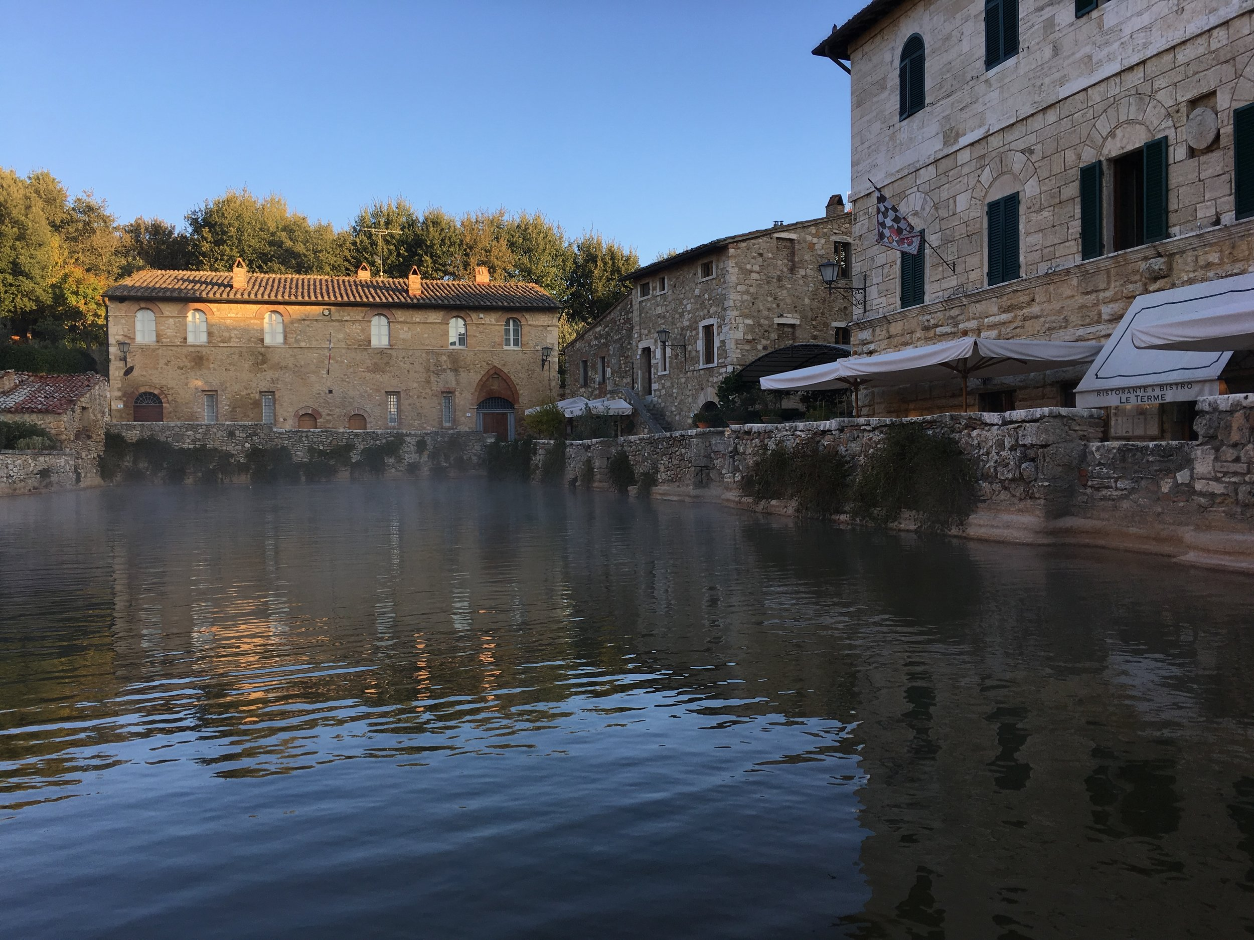 Bagno Vignoni- a great place to relax