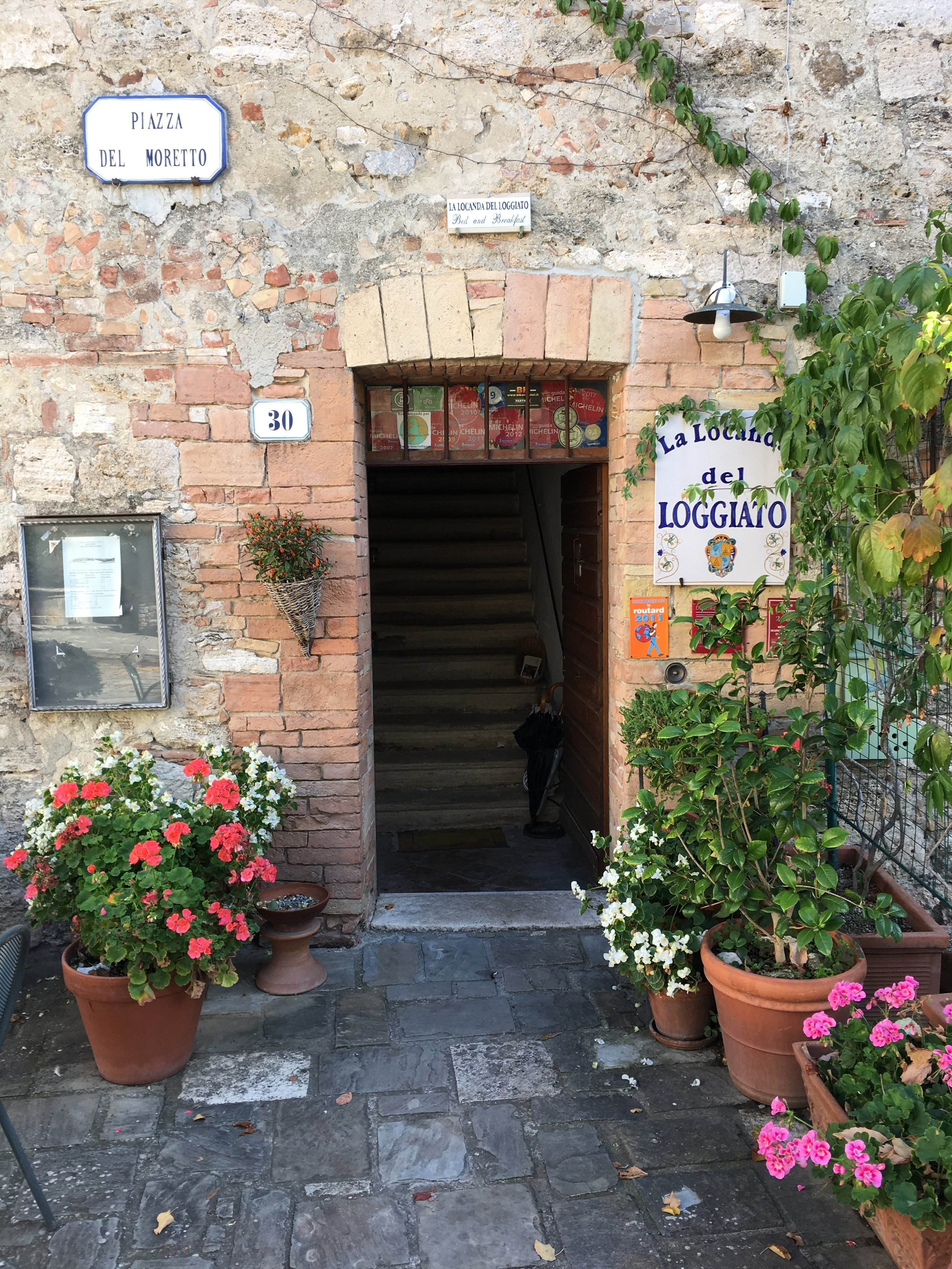 Bagno Vignoni- Our hotel was a pleasant surprise - great location and decor in this tiny hamlet