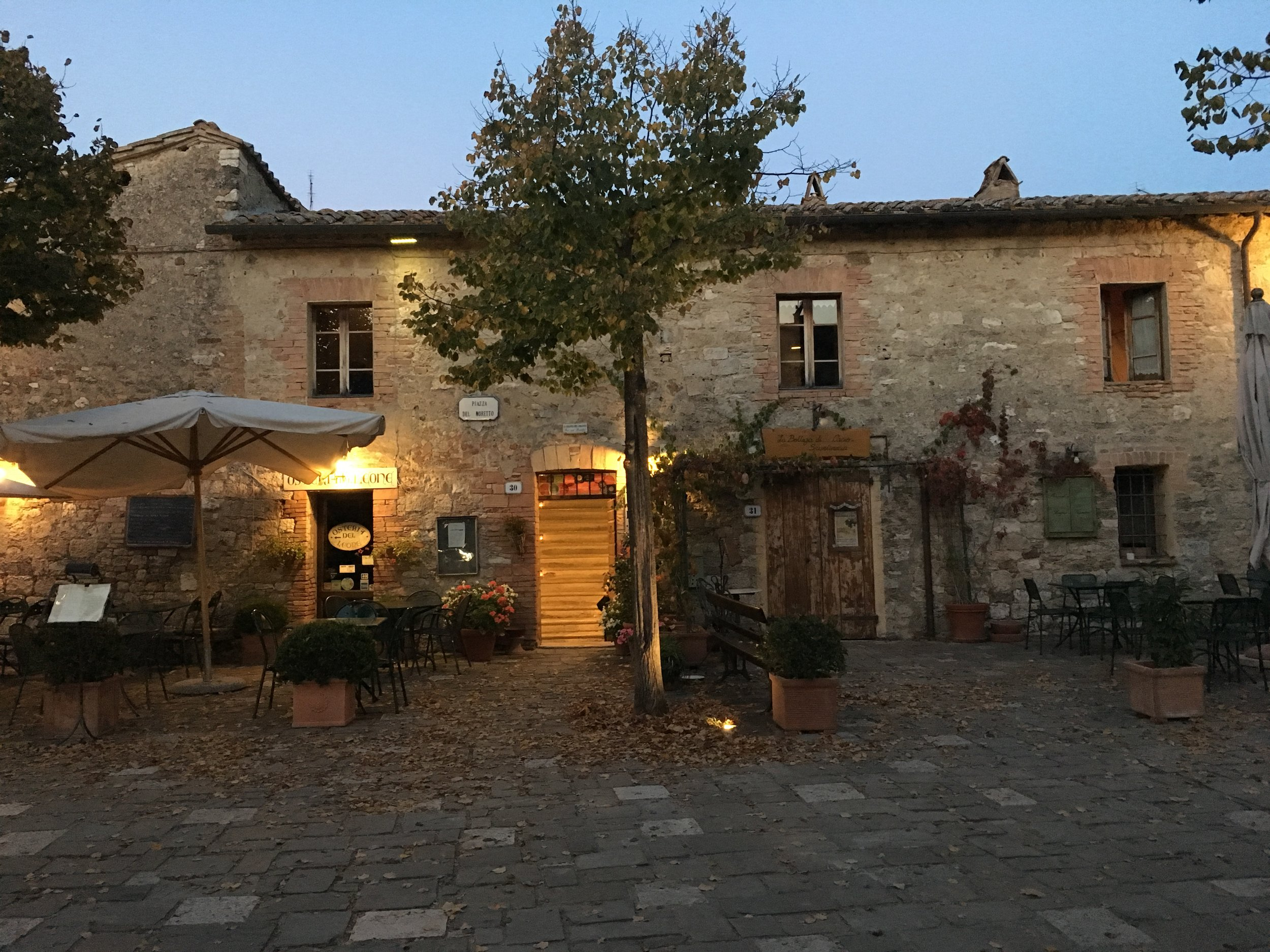 Our B&B in the evening
