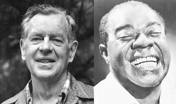 Joseph Campbell (left) and Louis Armstrong (right). Two men who changed American history, genuinely enjoyed life, and loved jazz music.