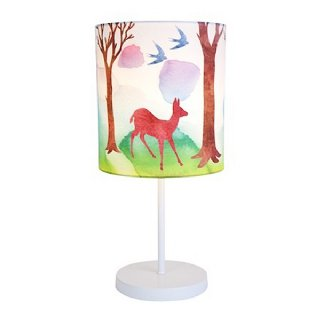 Deer and birds  nursery lamp