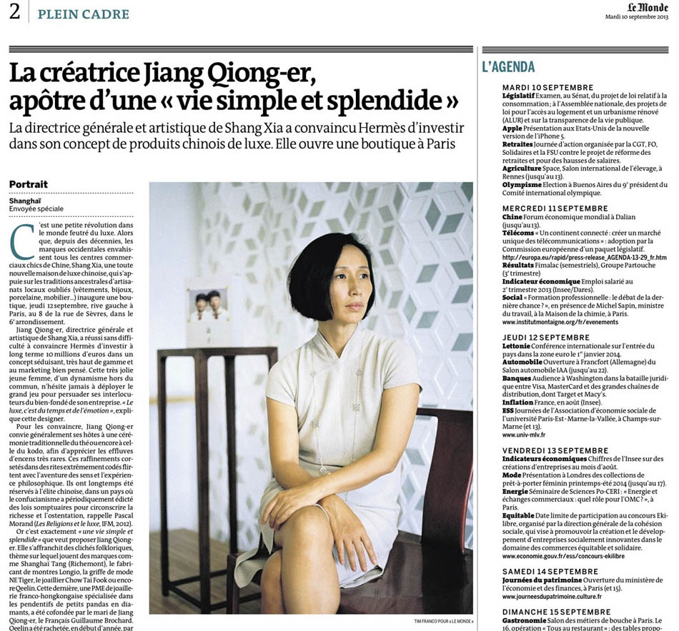 Published in 10th of september in Le Monde