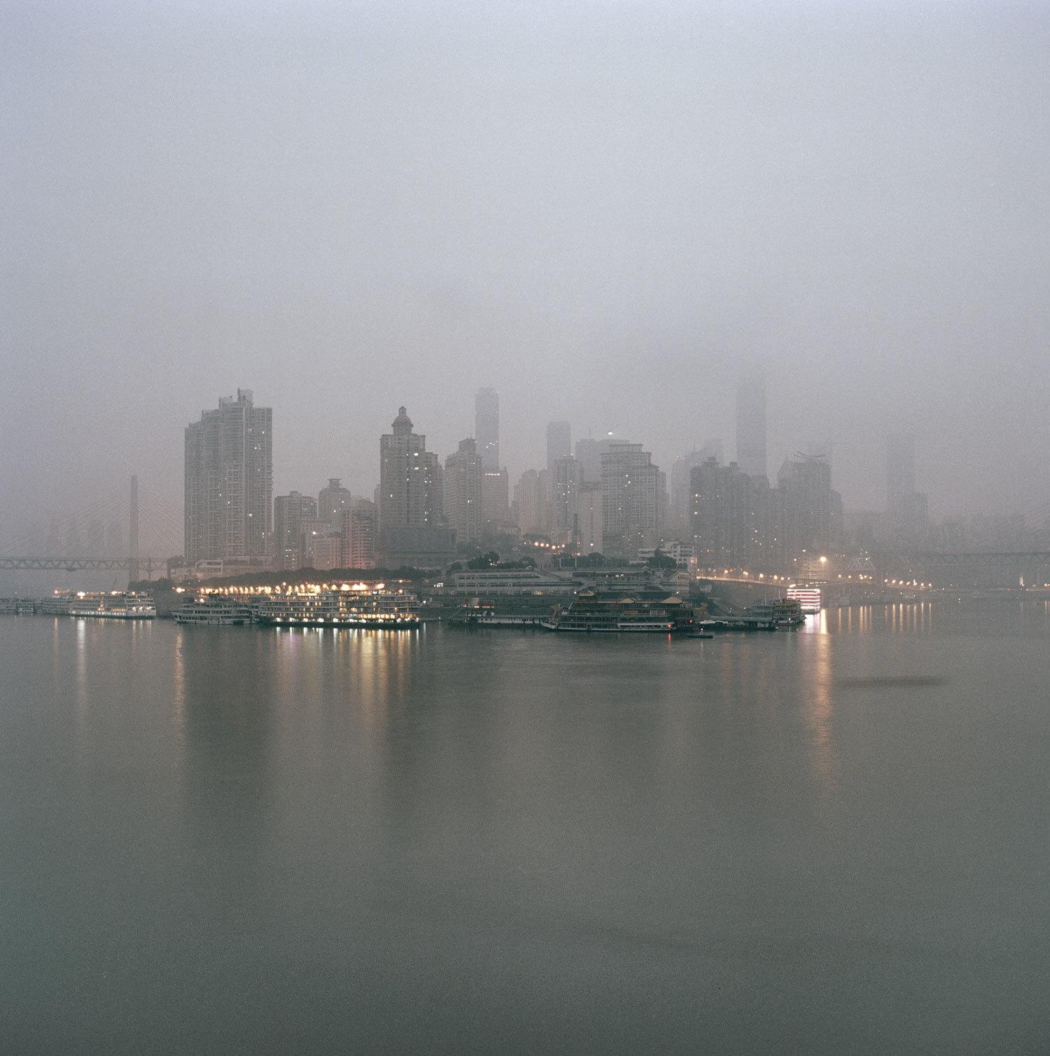 Chongqing Chaotianmen at dusk