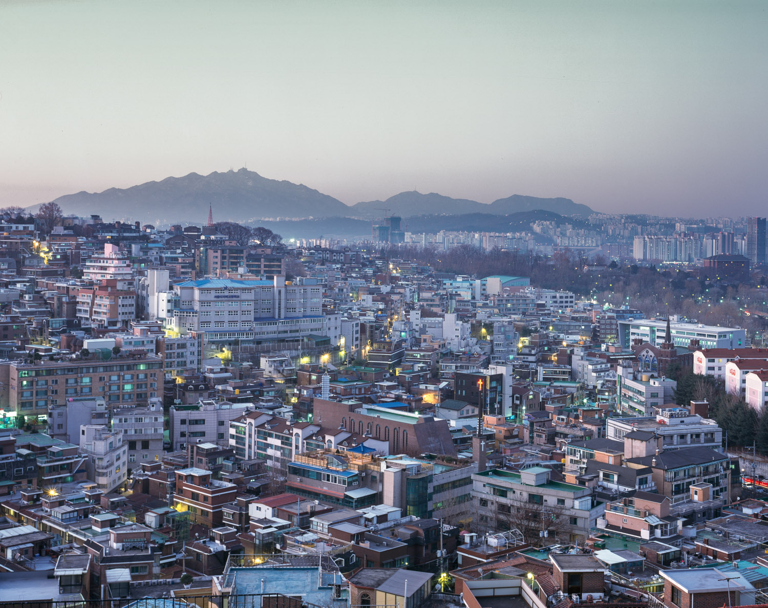 Itaewon at dawn
