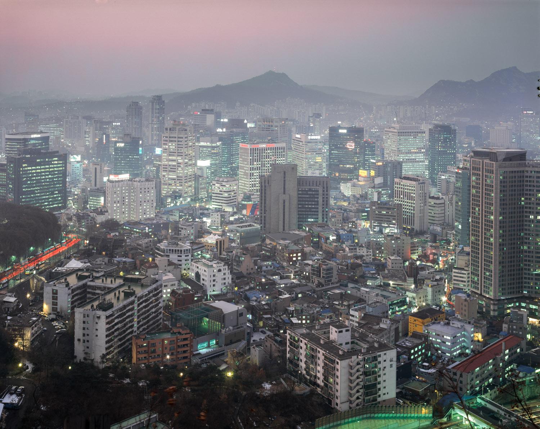 Central Seoul at dusk