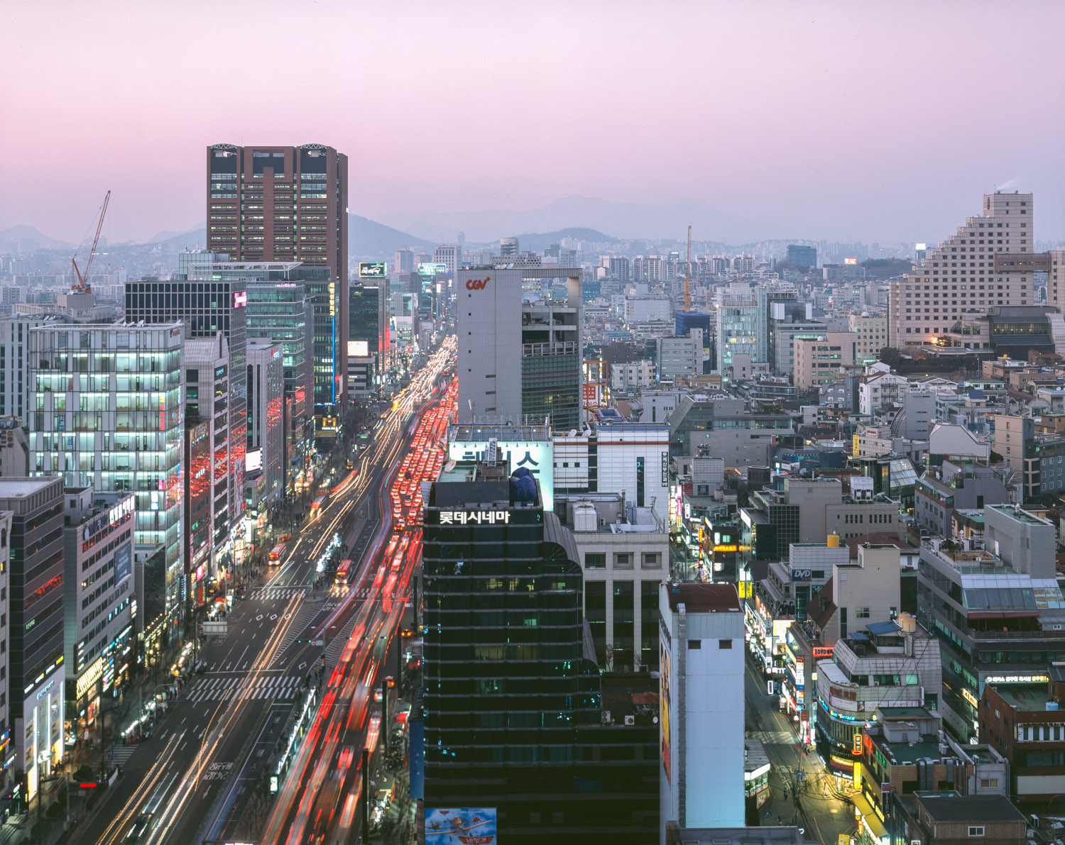 Gangnam main shopping area