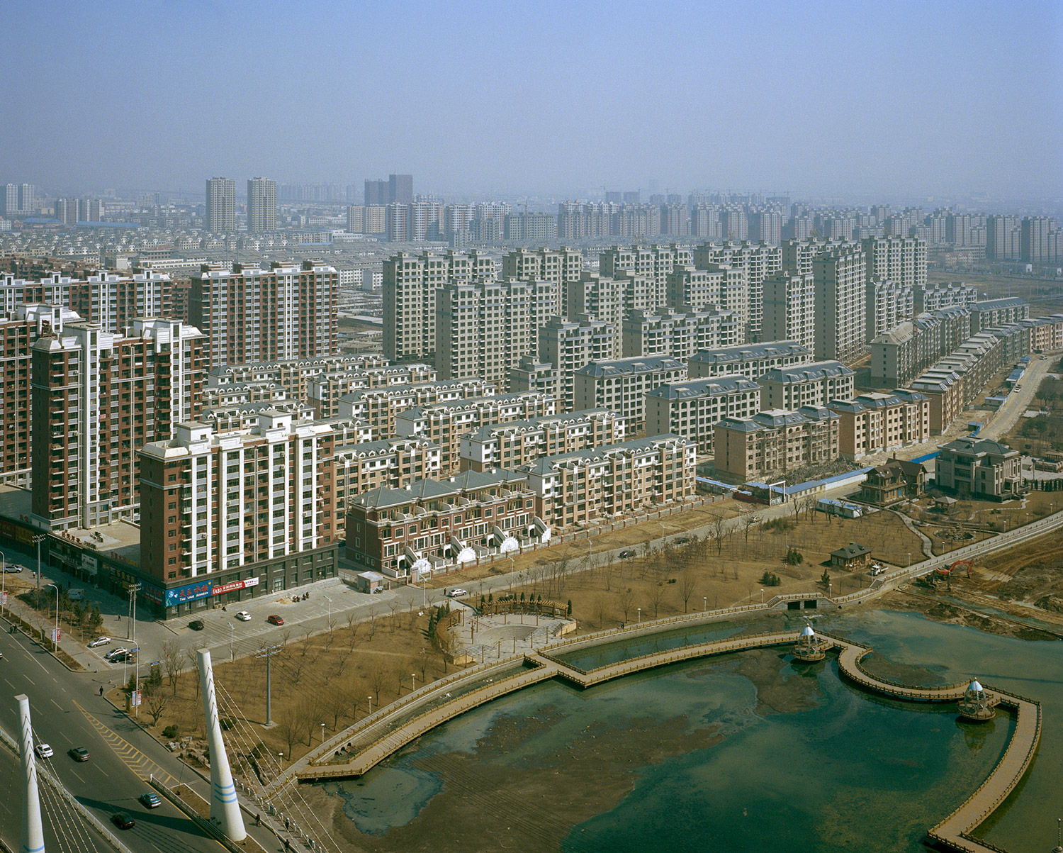The Yingkou new district city scape