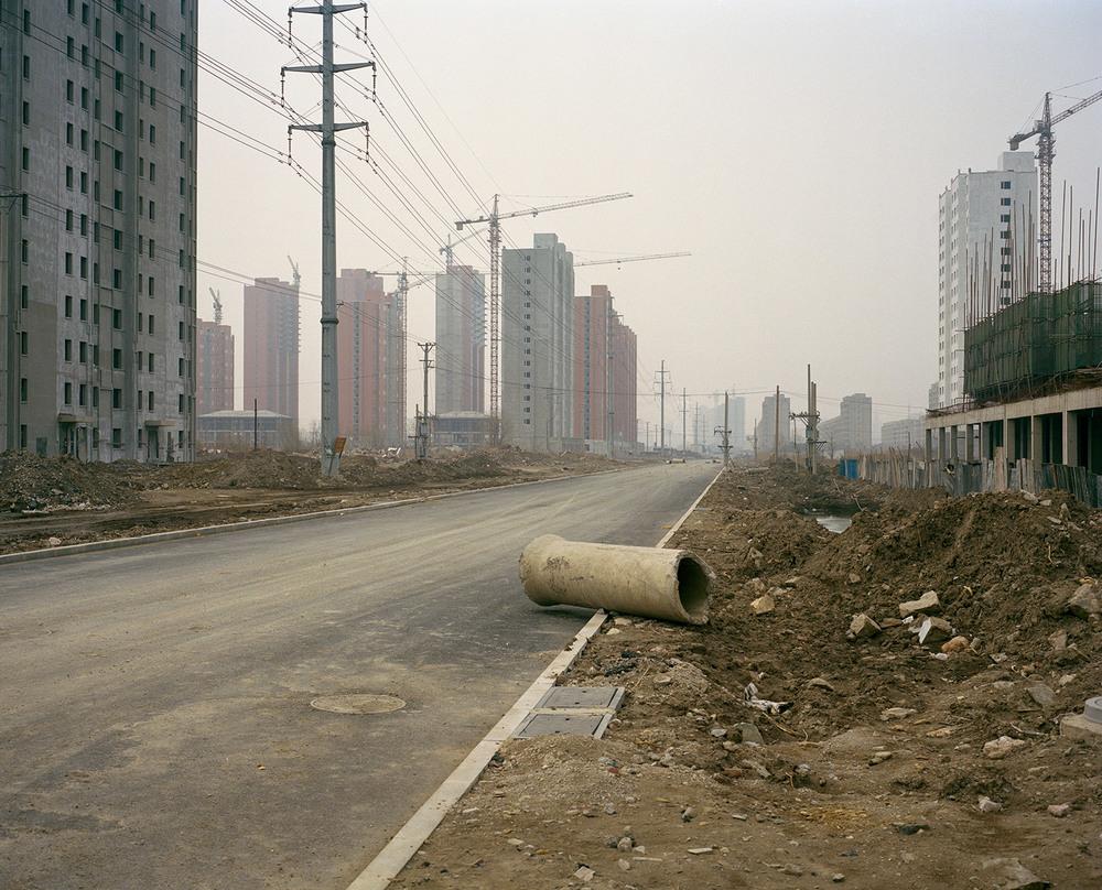Abandoned road in Yingkou downtown