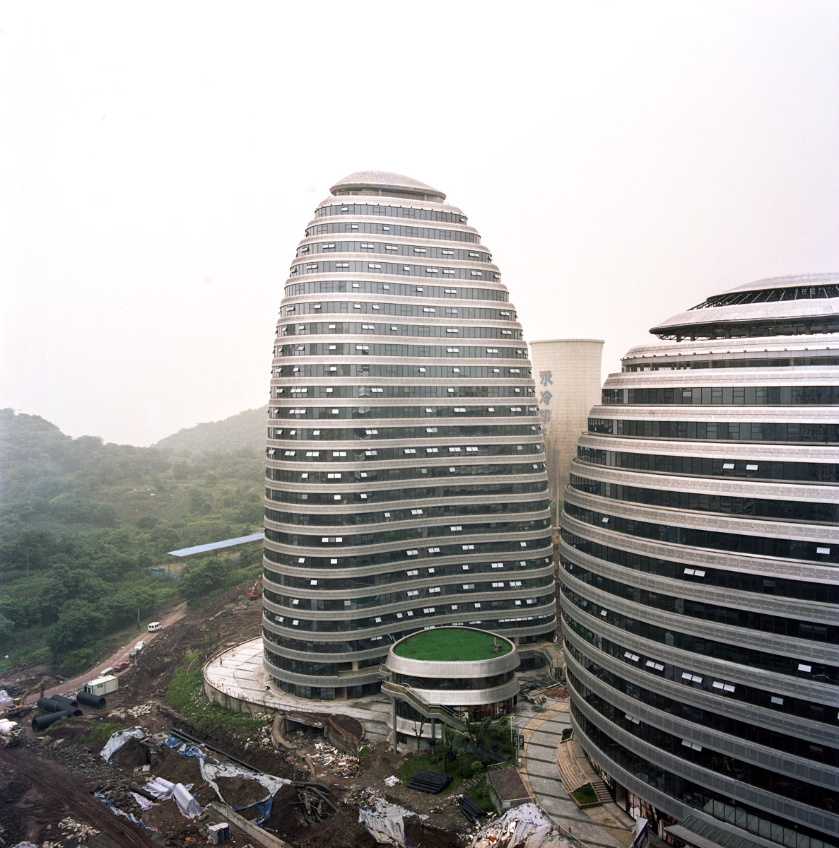 The copycat building is located in the Jiangbei district of Chongqing