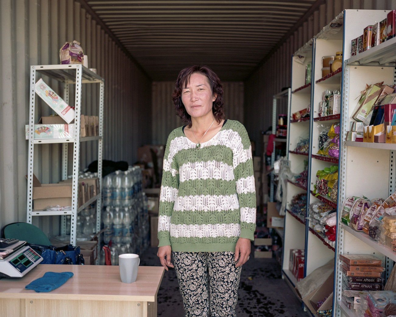 Kazakh shop owner