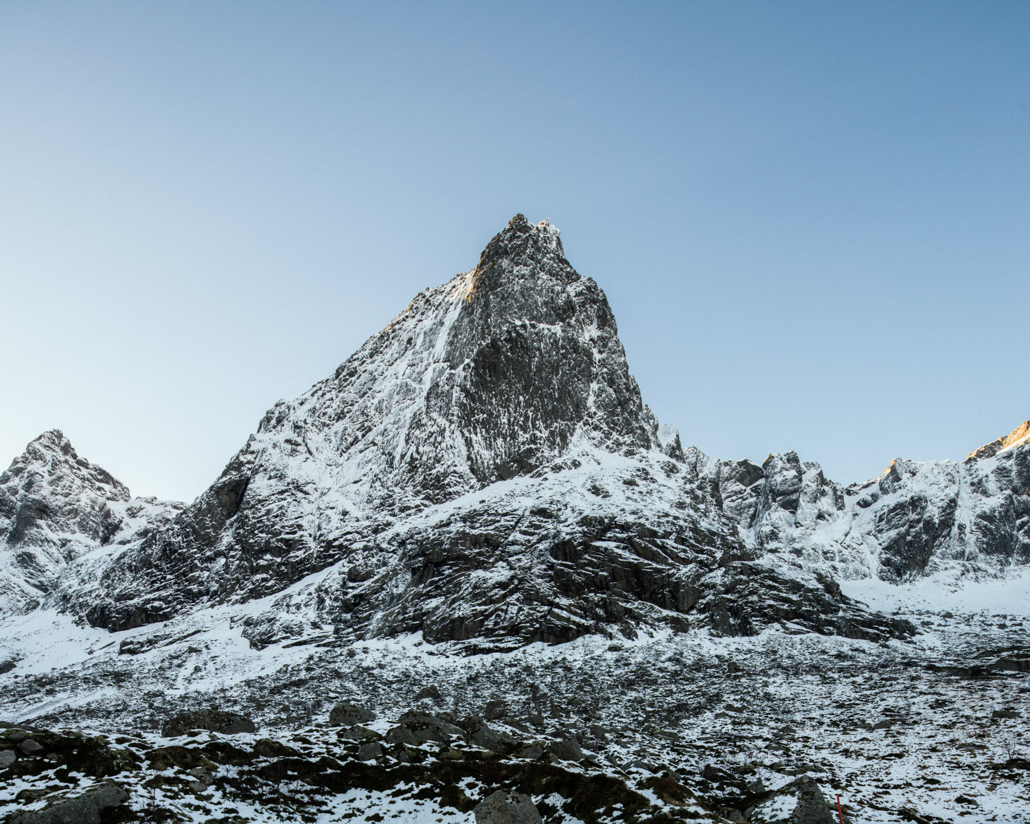 On the many peaks forming the incredible landscape of the Lofoten island