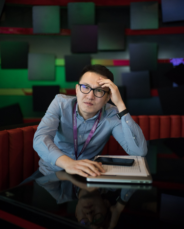 Lkhagva Erdene, prominent journalist at Mongol TV